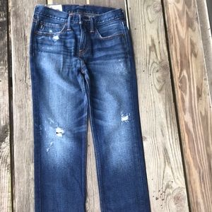 Abercrombie kids boy ripped Jeans dark washed new